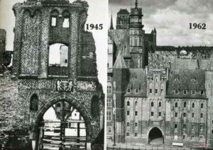 Brama Mariacka, znieszczenia pod 2 wojnie swiatowej w Gdańsku